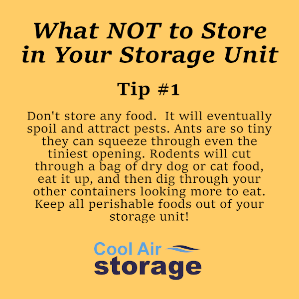 What NOT to Store